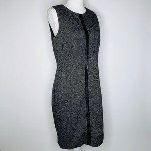 Laundry by Shelli Segal Gray Midi Dress 10 New